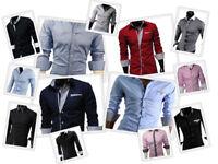 GL Fashions NUOVO progettati Uomo Casual Slim Abito Camicie UK Taglia S//M//L//XL//XXL #46