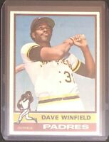 DAVE WINFIELD 1976 TOPPS VINTAGE BASEBALL CARD #160 - PADRES