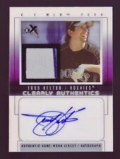 Todd Helton Autograph Jersey /50 2004 Fleer E-X Clearly Authentics Auto Rockies