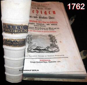 259 Jahre altes Buch -1762- FOLIO PERGAMENT Barock PRACHTBAND Gegenreformation