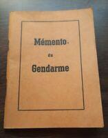 K01108 livre ancien orange mémento du gendarme 1947 militaria