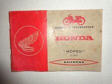 HONDA MOPED C310a,50cc Livre entretien,instruction,années 60 en français