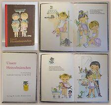 Sonntag & Uhlich Unsere Heinzelmännchen Kinderbuch Bilderbuch DDR um 1960 xz