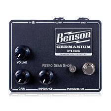 Benson Amps Germanium Fuzz Studio Black Fuzz Guitar Effect Pedal In Stock