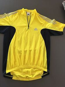 Men's ADIDAS  Cycling Jersey SIze Small Yellow Short Sleeve
