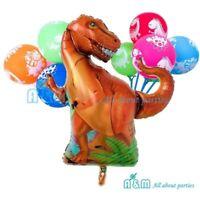 Giant Dinosaur Balloon Set Birthday Party Decoration (12 latex + 1 Foil)