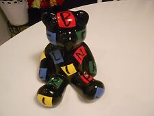 """color zoo hand painted ceramic teddy bear-vg+ condition 4 1/2"""" x 4 1/4"""" x 4"""""""