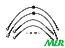 FORD MONDEO MK3 ST220 TDCI STAINLESS STEEL BRAIDED BRAKE LINES HOSES PIPES AER