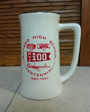 Vintage Rare Cincinnati Milford High School Centennial Mug Glass Stein 1883-1982