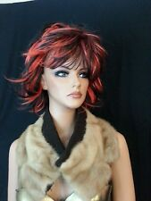 Vtg 50 60s Blonde Mink Fur Collar Neck Wrap for Coat Jacket Sweater Wool Lining
