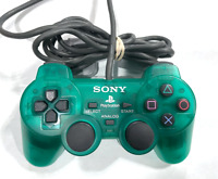 OFFICIAL Sony PlayStation PS1 PS2 Controller Clear GREEN Dual Shock SCPH-1200