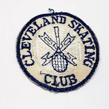Vintage original Cleveland Skating Club Skating club award souvenir patch