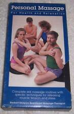 Personal Massage for Health and Relaxation VHS Video Herbert Shapiro