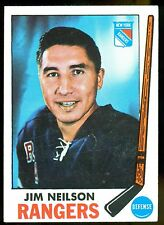 1969 70 TOPPS HOCKEY 35 JIM NEILSON EX-NM N Y RANGERS CARD WITH FREE SHIP TO USA