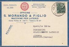 C125) ASTI, MACCHINE PER LATERIZI MORANDO E FIGLI. FIERA DI MILANO 1946.
