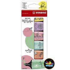 Stabilo BOSS Mini Highlighter Pens - Pastel Love - Pack of 6