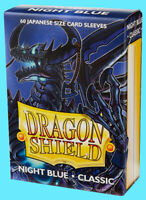 60 DRAGON SHIELD NIGHT BLUE CLASSIC JAPANESE Card Sleeve Mini Deck Protector