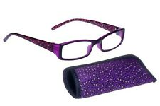 foster grant reading glasses Cora Purple  +2.00 With Free Case