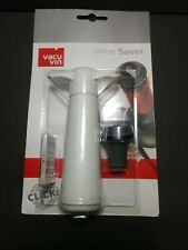 New VACU VIN Wine Saver Stopper Vacuum Pump Guaranteed Seal White Sealed Package