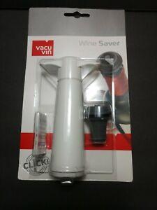 New VACU VIN Wine Saver Stopper Vacuum Pump Guaranteed Seal White Sealed Package