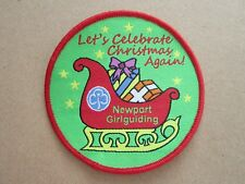 Newport Christmas Girl Guides Cloth Patch Badge L5K D