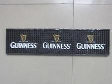 "2 - Guinness Distributor Bar Mats 20"" x 5"" New In Box 3 D Logo"