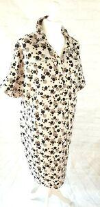 Paul Costelloe Shirt Dress Short Sleeves Multicolour Dots Size UK 16