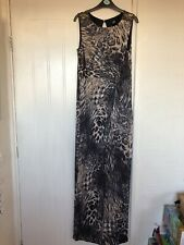 Wallis Animal Print Cheetah Snake Maxi Dress Evening Summer Hol