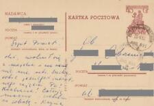 Poland prepaid postcard used (Cp 138 s.III.57) monument COPERNICUS (SLANIA)