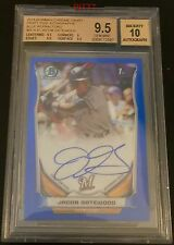 JACOB GATEWOOD RC AUTO 2014 BOWMAN CHROME BLUE REFRACTOR /150 BGS GEM MINT 9.5