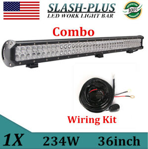 "36"" INCH 234W LED WORK LIGHT BAR SPOT FLOOD COMBO OFFROAD 38""+WIRING KIT SWITCH"