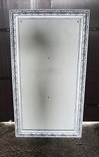 Grand cadre en Stuc de couleur Argenté