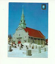 L'EGLISE ST. JEAN L'HIVER, ILE D'ORLEANS, QUEBEC, CANADA POSTCARD