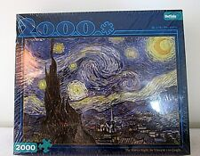 """NEW Buffalo Puzzle """"The Starry Night"""" by Vincent Van Gogh - 2000 Piece Puzzle"""