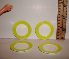 MINI KITCHEN FOOD RE-MENT DINNER PLATES ACCESSORY 1/6 SCALE LOT RETIRED LOT OF 4