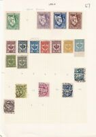 LATVIA PRE 1930's ALBUM PAGE OF 18 STAMPS