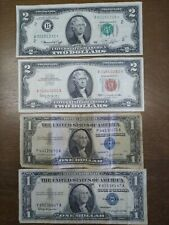 Us Currency lot star note low# plus other red and blue notes