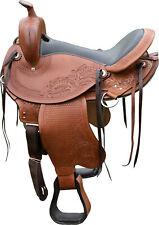 """TN Saddlery Lewisburg Gaited Western Leather Saddle 15"""" 16"""" 17"""" 18"""""""
