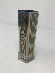 Hexagonal Renne Mackintosh style vase, made in Kirkwell, Orkney Islands by Ortak