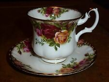 Royal Albert Old Country Roses Bone China-Single taza y platillo de café - 1962