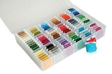 Large Floss Thread Box Organiser Storage Embroidery 100 Bobbins Sewing Craft DIY