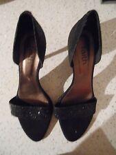 Faith Black shiney sequins Shoes Peeptoe Size 6