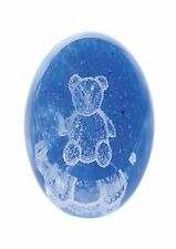 Special Moments Teddy Blue Paperweight Caithness Glass G28440