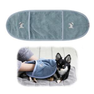 Dog Cat Pet Bath Towel Glove Type Quick Dry Blue