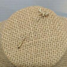 "Vintage Gold Tone Decorative Stick Pin Tiny Bow 2"" Long Dainty"
