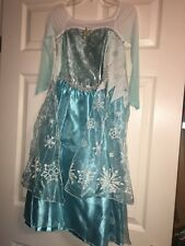 DISNEY STORE FROZEN ELSA GIRLS 2nd Edition COSTUME DRESS SZ 5/6 NWT Authentic