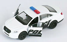 BLITZ VERSAND Ford Police Interceptor weiss white Welly Modell Auto 1:34 NEU OVP