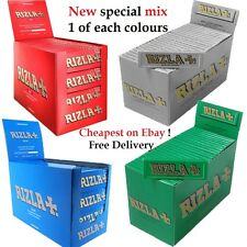 RIZLA Regular Genuine RED GREEN SILVER BLUE WHITE PINK Cigarette Rolling Papers