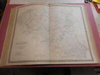 100% ORIGINAL LARGE BELGIUM MAP BY JOHNSTON NATIONAL ATLAS C1857 VGC