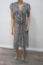 MSK Black Floral Super CUTE Ruffle Chifon Front Summer Dress Size 10